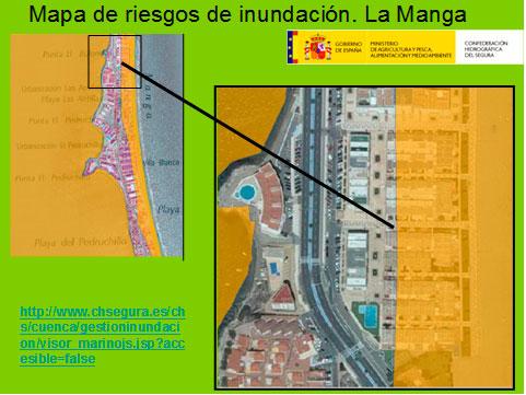 mapa de riesgos de inundación la manga