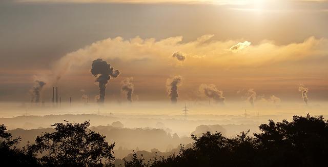 Polución parque industrial